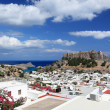 Scenic view of Lindos, Rhodes Island (Greece) — Stock Photo