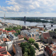 Bird's eye view of the city, Riga (Latvia) — Stock Photo