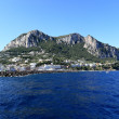 Panoramic view of the port, Capri Island (Italy) — Stock Photo