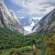 Scenic landscape with a glacier (Norway) — Stock Photo