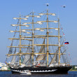 Four-masted barque Krusenstern, Riga (Latvia) — Stock Photo