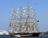 Four-masted barque Krusenstern, Riga (Latvia) — Foto de Stock