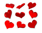 Set of hearts design — Stock Vector