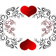 Beautiful card with heart — 图库照片 #16635997
