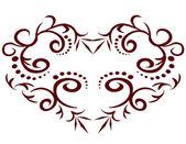 Красивая открытка с сердцем — Cтоковый вектор