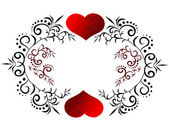 Beautiful card with heart — Stock Vector