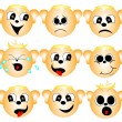 Set of smileys — Stock Vector #19049335