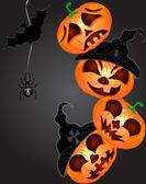 Abóbora de Halloween — Vetor de Stock