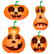 Stock vektor: Halloween Pumpkin
