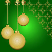 Golden vector Christmas balls — Stockvektor