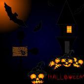 Halloween night background — Stock Vector