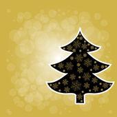 Christmas Tree From Stars Light — Stock Vector