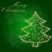 Christmas Tree From Star Light — Stock Vector