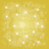 Yellow christmas background with stars — Stock Vector