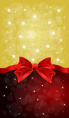 Greeting cards with red bows — Vector de stock