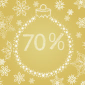 Discounts for Christmas holiday — Stock Vector