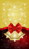 Greeting cards with red bows — Wektor stockowy
