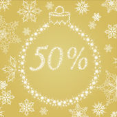 Christmas percents discount — Vector de stock