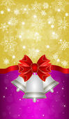 Greeting cards with red bows — Stockvector