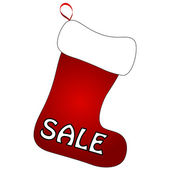 Christmas Socks with Sale sign — Stockvector