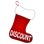 Christmas Socks with Discount sign — Stock Vector