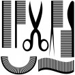 Hairdressing set icons — Stock Vector