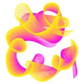 Colour abstract spiral — Stock Vector