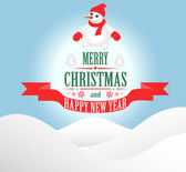 Merry Christmas greeting card — Stockvector