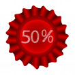 Red Label-50 percents — Stock Vector