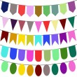 Bunting and garland set — Stock Vector #39096113