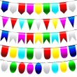 Bunting and garland set — Stock Vector #39096121