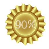 Sarı etiket-%90 — Stok Vektör