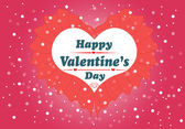 Happy Valentines day card with heart. — Vettoriale Stock