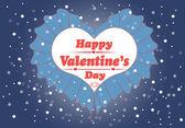 Glad alla hjärtans dag-kort med hjärta. — Stockvektor