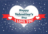与心的快乐情人节卡片。. — 图库矢量图片