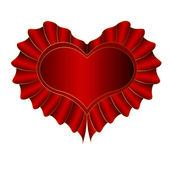 Red Heart — Vector de stock