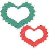 Feliz día de san valentín tarjeta con corazón. — Vector de stock