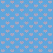Valentine's day background with hearts — Vector de stock