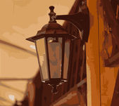 Beautiful lantern — Vector de stock