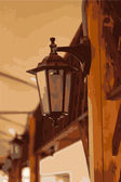 Beautiful lantern — Vettoriale Stock