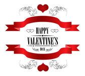 Happy Valentine's Day Greeting Card — 图库矢量图片