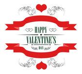 Mutlu sevgililer günü tebrik kartı — Stok Vektör