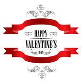 Happy Valentine's Day Greeting Card — Wektor stockowy