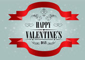 Happy Valentine's Day Greeting Card — Vettoriale Stock