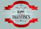 Happy Valentine's Day Greeting Card — Vector de stock