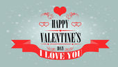 Happy Valentine's Day Greeting Card — Stock Vector