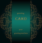 Vintage greeting cards in Victorian style — Stockvector
