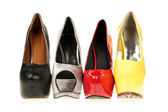 High Heels shoes in different colours — Stock Photo