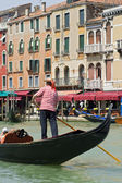 Gondola in the Grand Canal of Venice, Italy — Stock Photo