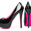 High heels shoes with inner platform and pink sole — Stock Photo #49364655